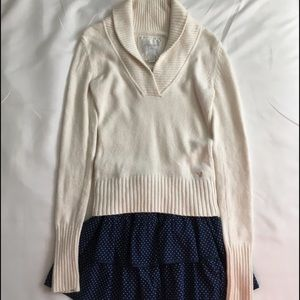 American Eagle Skirt Cream Cable knit Sweater